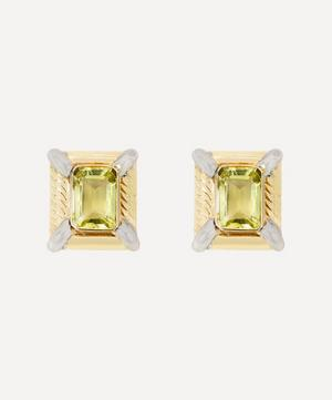 14ct Gold 1980s Large Citrine Clip-On Earrings