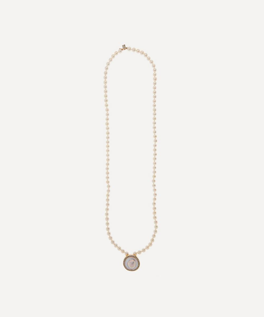Kojis - Mabé Pearl and Diamond Clasp Double Pearl Necklace