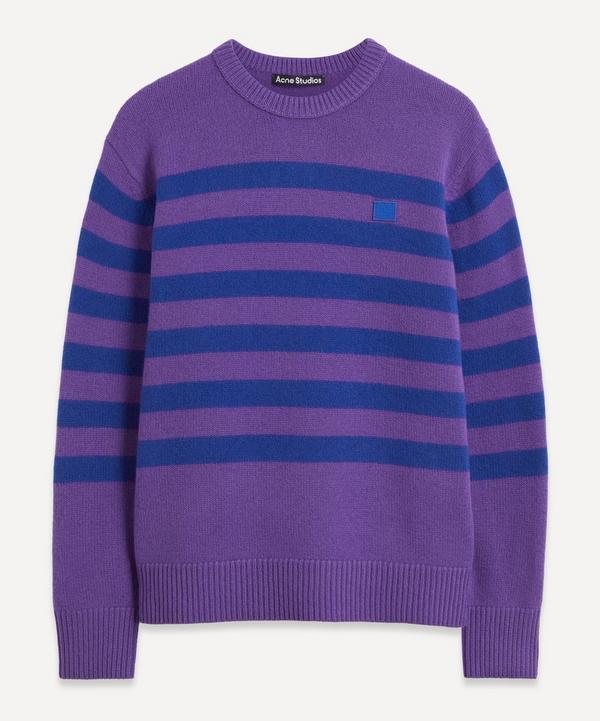 Acne Studios - Striped V-Neck Sweater
