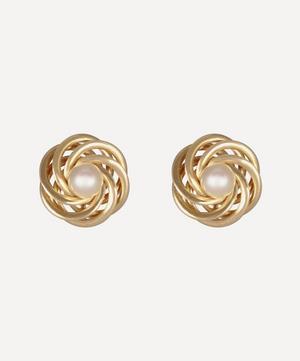 14ct Gold Pearl Rosette Earrings