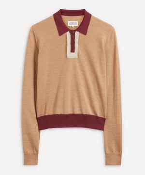 Colour-Block Polo Sweater