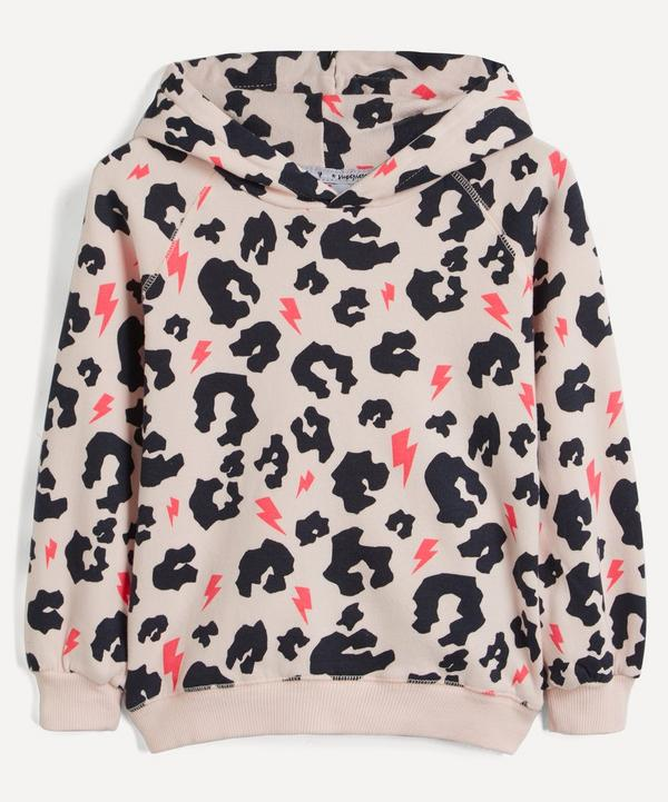 Scamp & Dude - Leopard and Neon Lighting Bolt Hoodie 1-9 Years