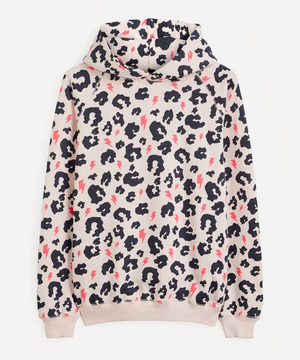 Scamp & Dude - Leopard and Neon Lighting Bolt Hoodie