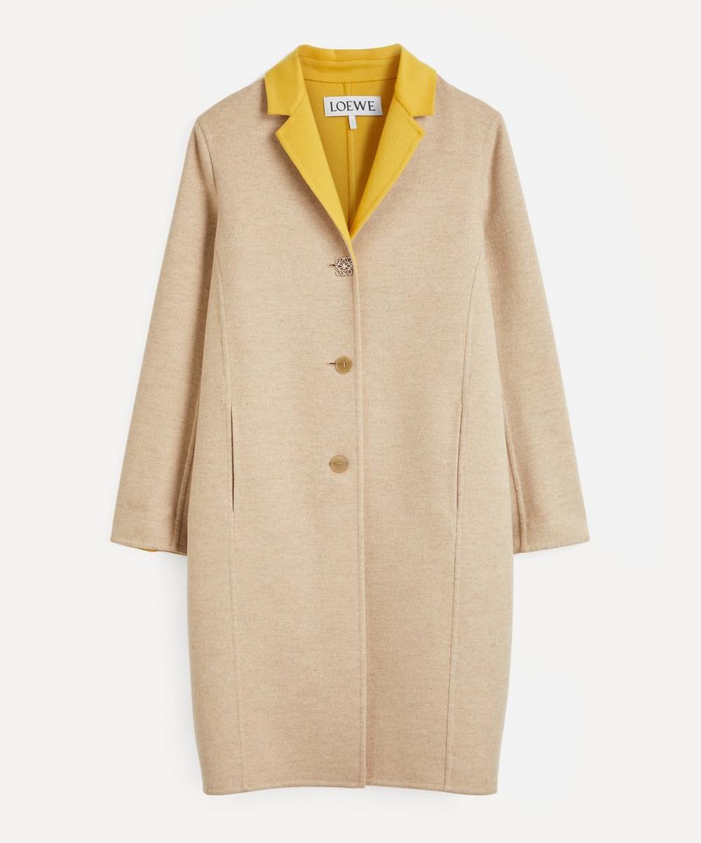Loewe - Anagram Logo Bi-Colour Wool-Cashmere Coat