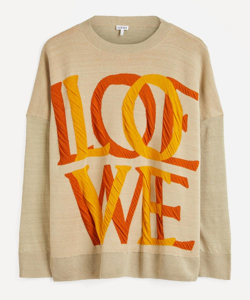 Loewe - Love Logo Jacquard Linen-Mix Sweater