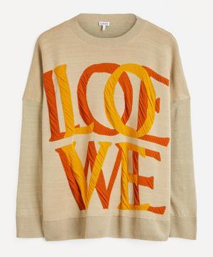Love Logo Jacquard Linen-Mix Sweater