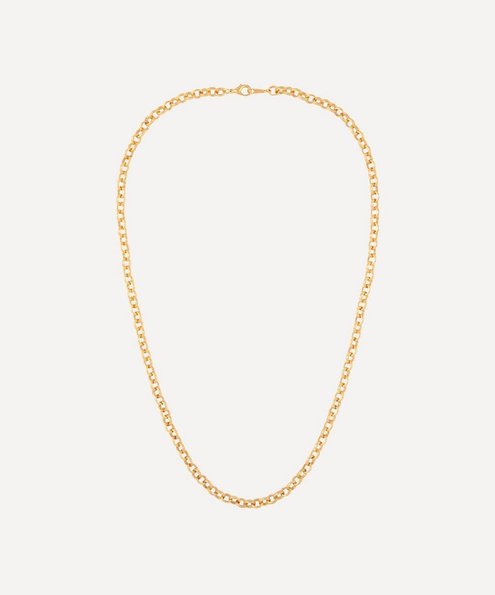 Susan Caplan Vintage - Gold-Plated 1990s Etched Belcher Chain Necklace