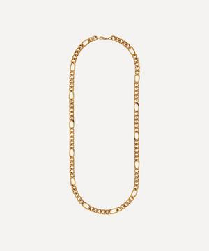 Gold-Plated 1990s Figaro Chain Necklace