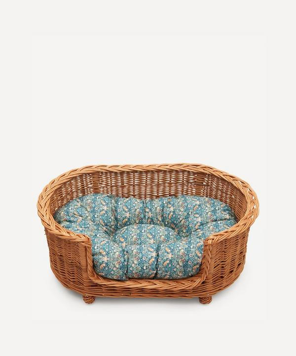 Coco & Wolf - Strawberry Thief Oval Rattan Dog Bed