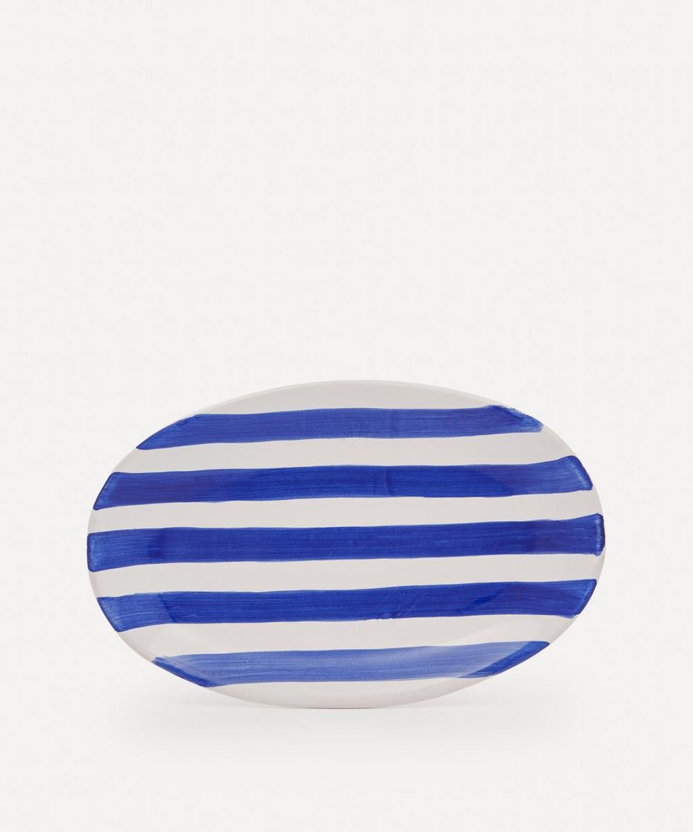 Popolo - Striped Oval Platter
