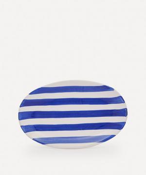 Striped Oval Platter