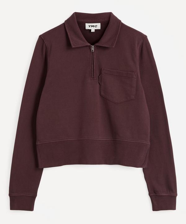 YMC - Sugden Half Zip Cotton Sweatshirt