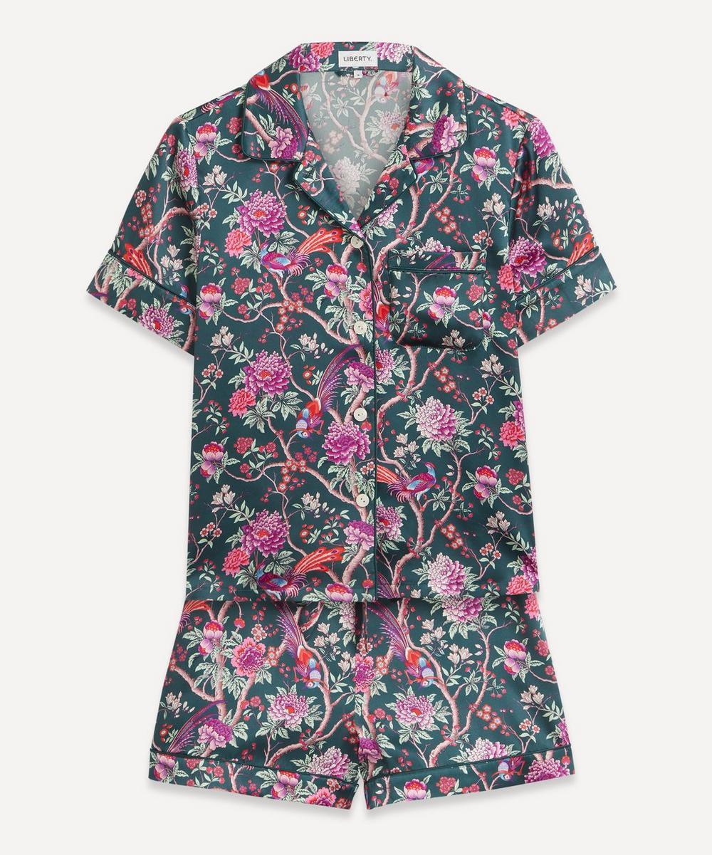 Liberty - Elysian Paradise Silk Satin Short Pyjama Set