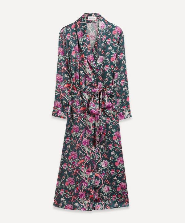 Liberty - Elysian Paradise Silk Satin Long Robe
