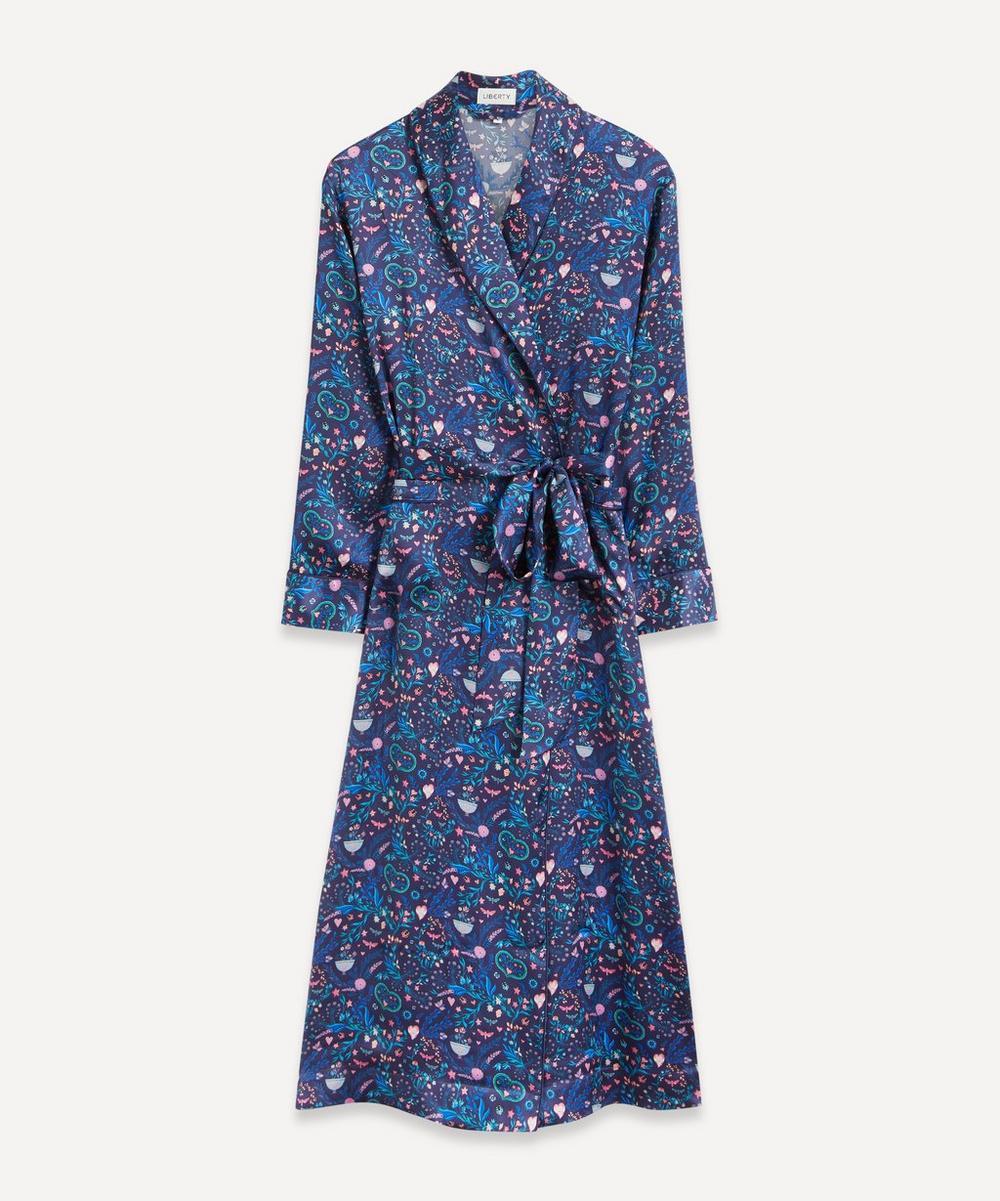 Liberty - Garden Party Silk Satin Long Robe
