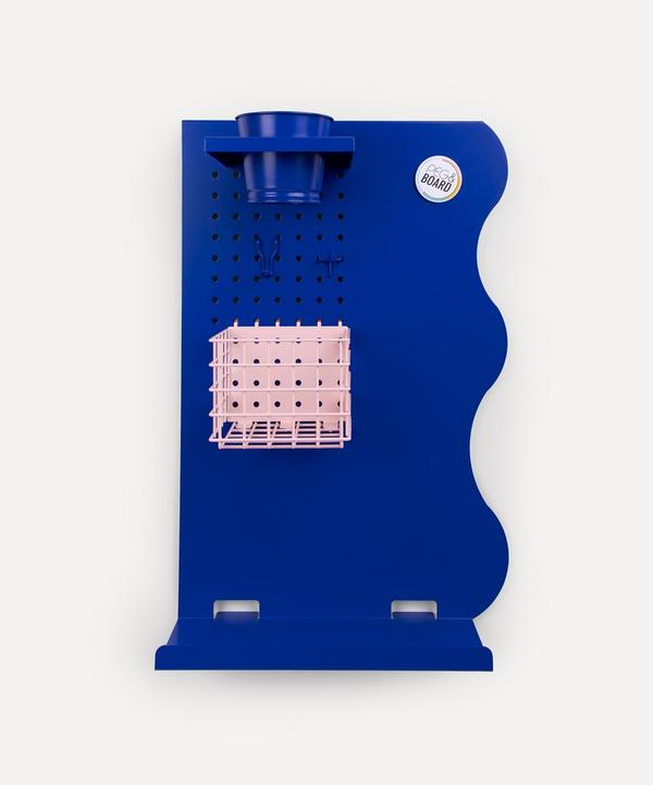 Peg & Board - Portrait Memo Board Set Cobalt Blue