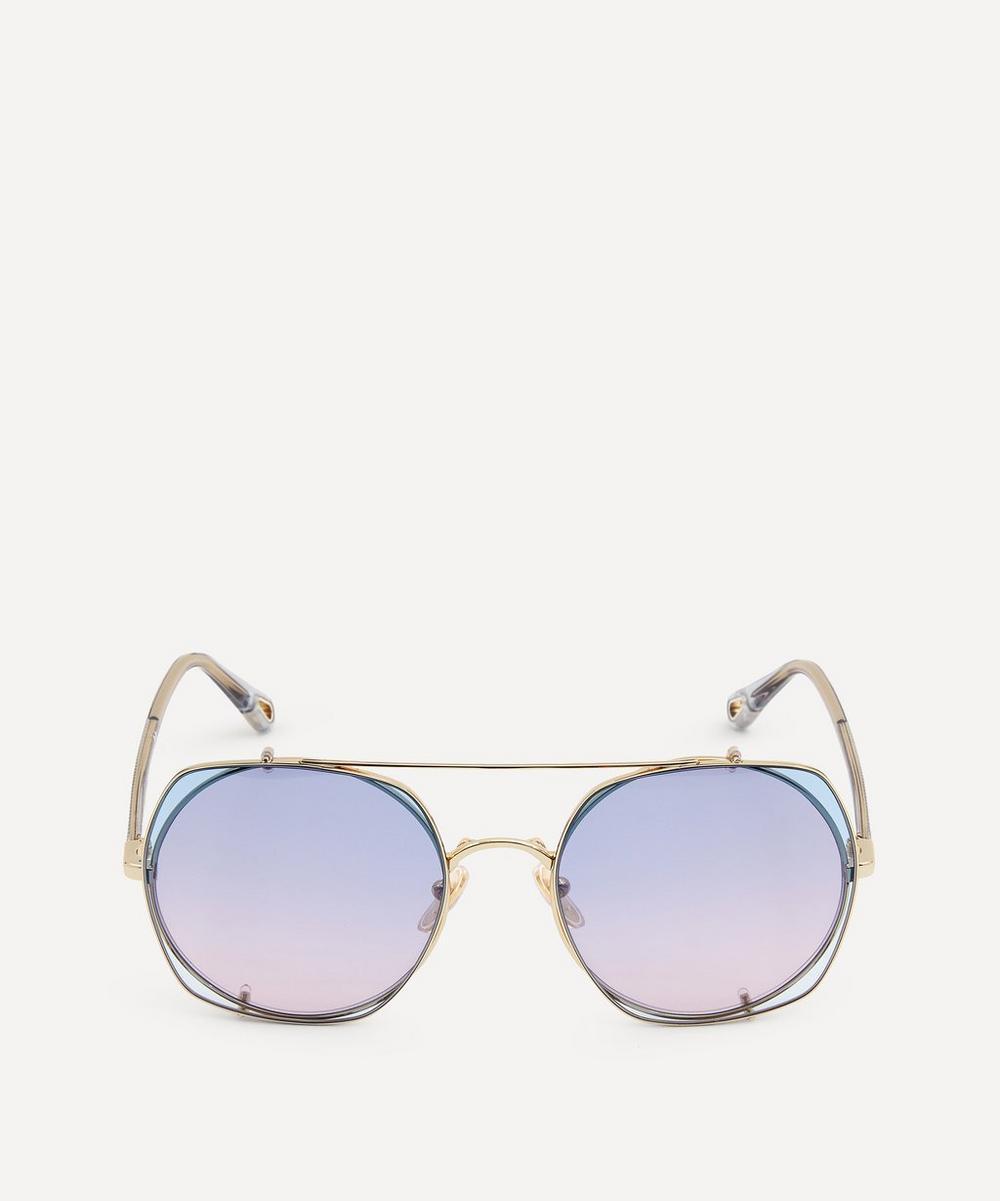 Chloé - Demi Clip-On Lens Sunglasses