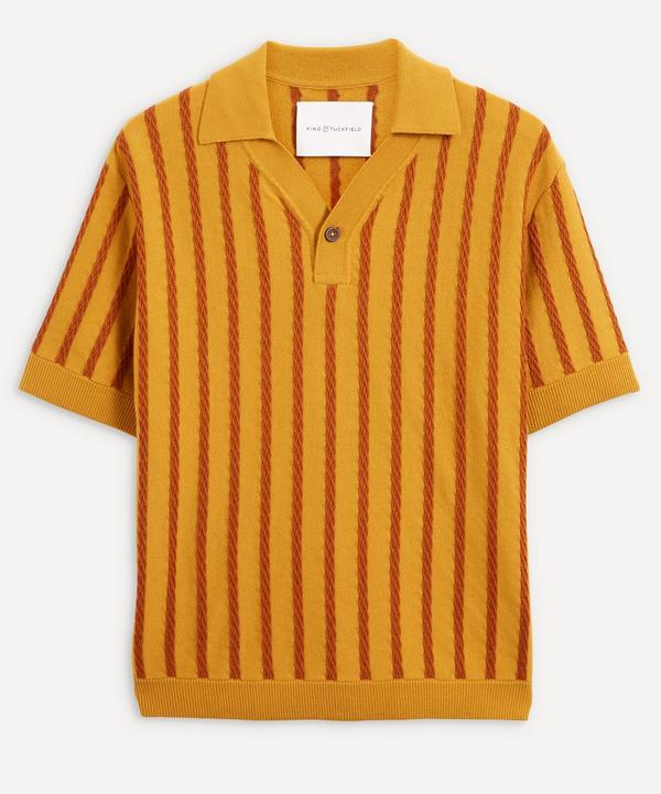 King & Tuckfield - Exclusive Stripe Wool Knit Polo-Shirt