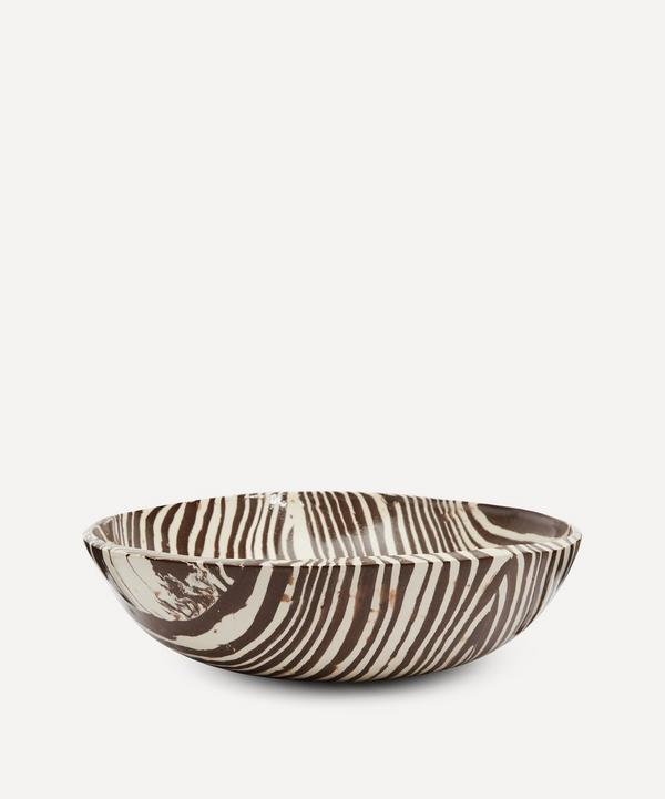 Henry Holland Studio - Brown and White Large Salad Bowl