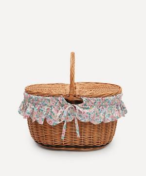 Betsy Oval Wicker Picnic Basket