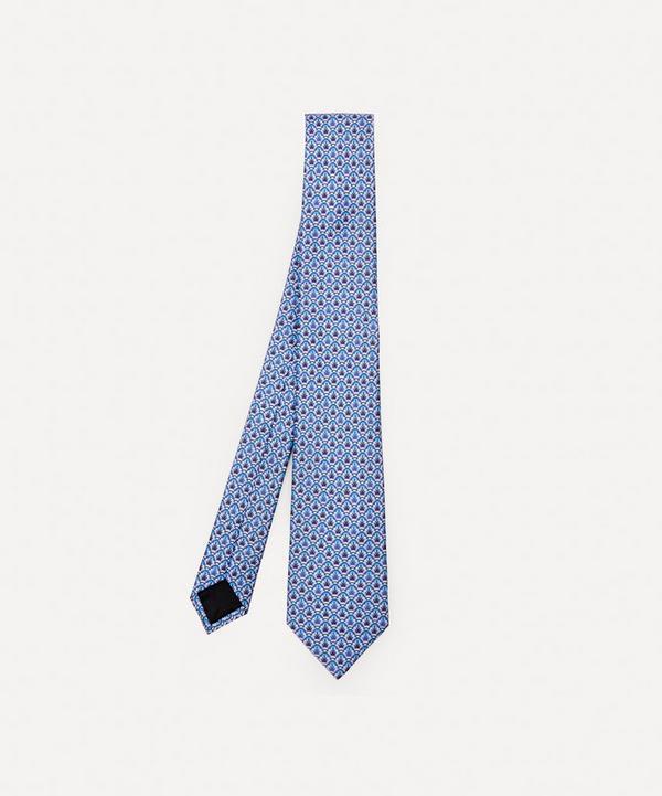 Lanvin - Geometric Leaf Silk Tie