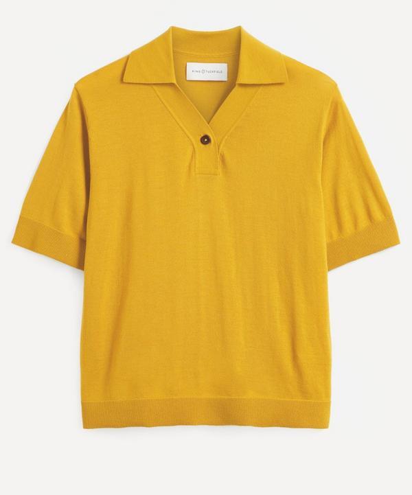 King & Tuckfield - Curved Placket Merino Wool Polo-Shirt