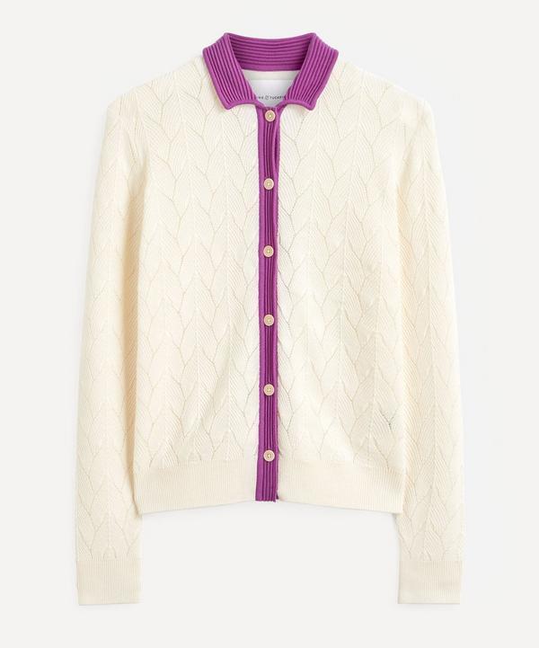 King & Tuckfield - Contrast Collar Merino Wool Shirt