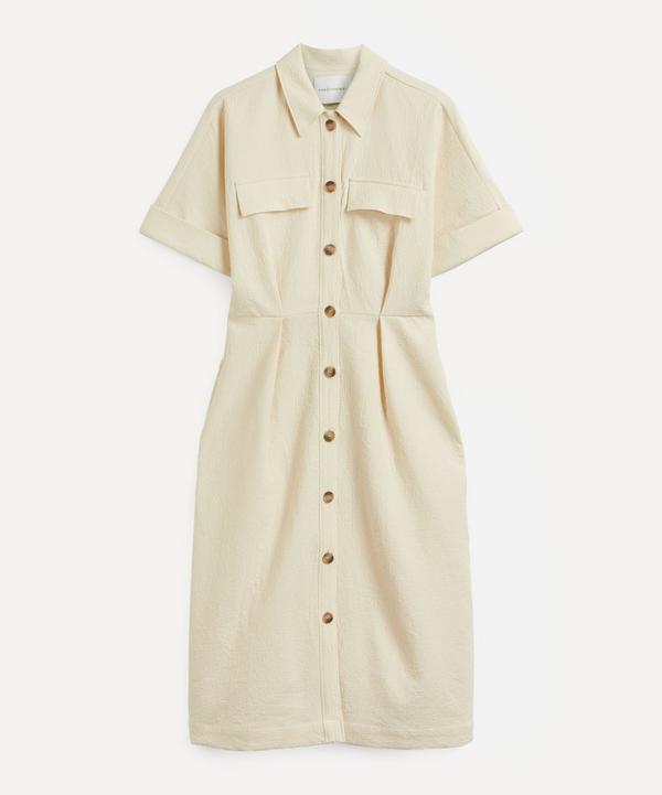 King & Tuckfield - Tuck-Waist Cotton Shirt-Dress