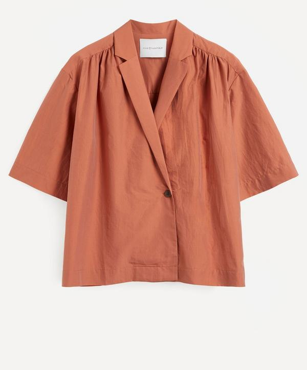 King & Tuckfield - Wrap-Around Silk-Cotton Shirt