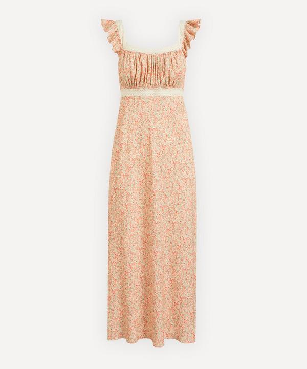 RIXO - Farah Lace Trim Floral Dress