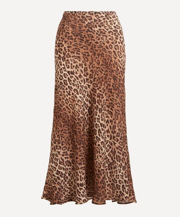 RIXO - Kelly Leopard Print Silk-Mix Skirt