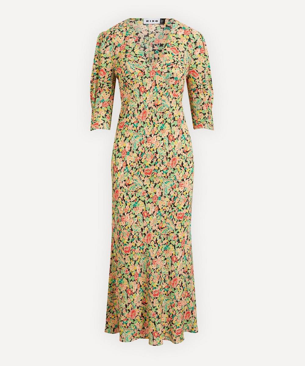 RIXO - Zadie Summer Meadow Midi-Dress