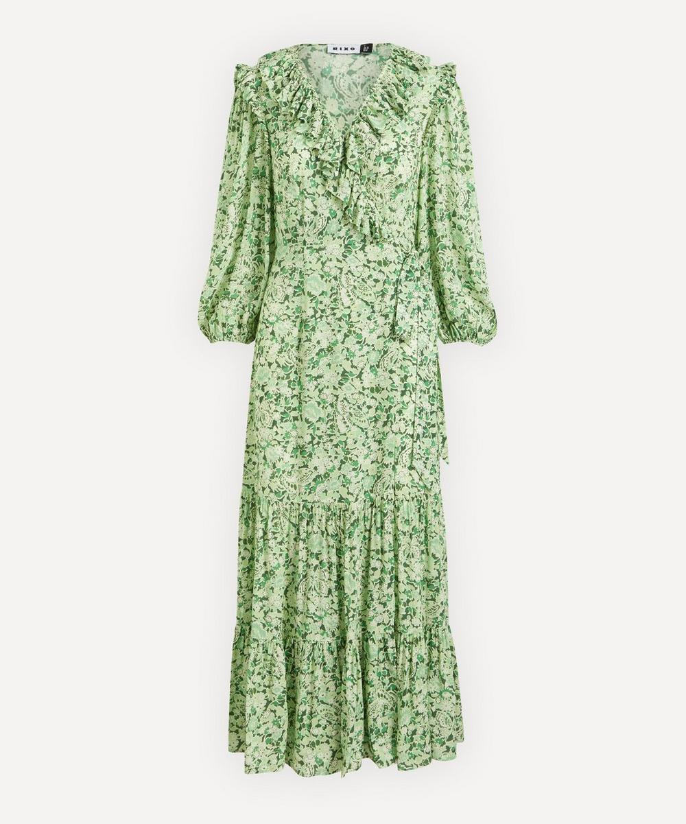 RIXO - Frida Ruffle Wrap-Dress