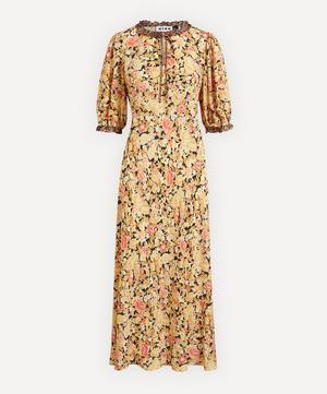 Hanna Leopard Trim Midi-Dress