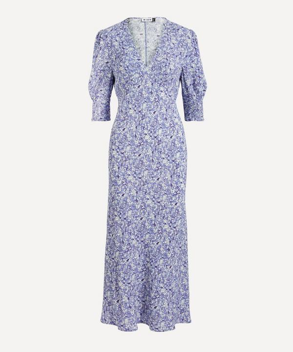 RIXO - Zadie Meadow Ditsy Midi-Dress