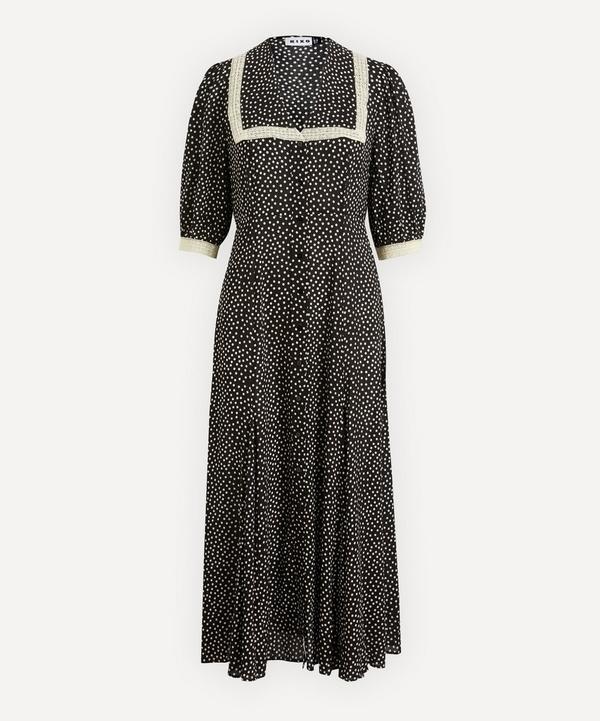 RIXO - Ellen Square Collar Shirt-Dress
