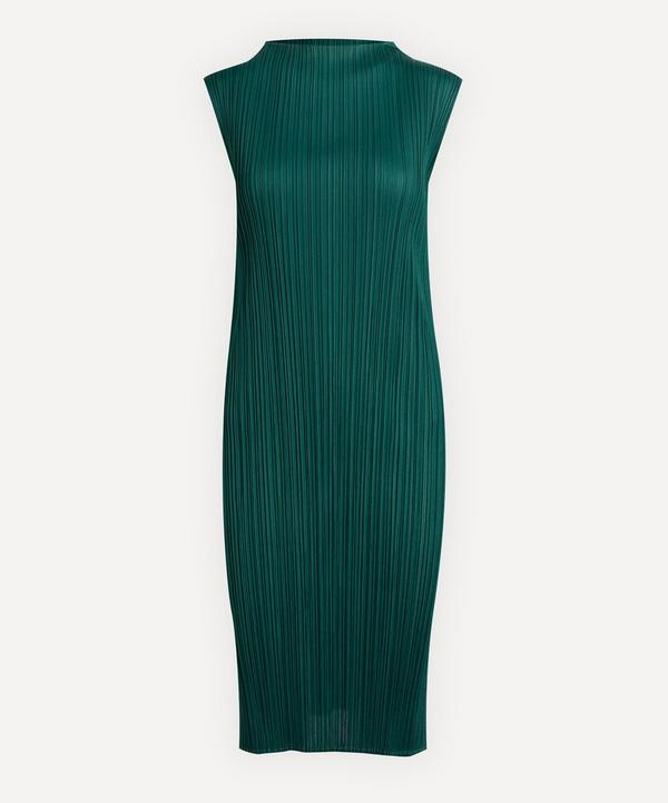 Pleats Please Issey Miyake - June Bouquet Colours High-Neck Dress