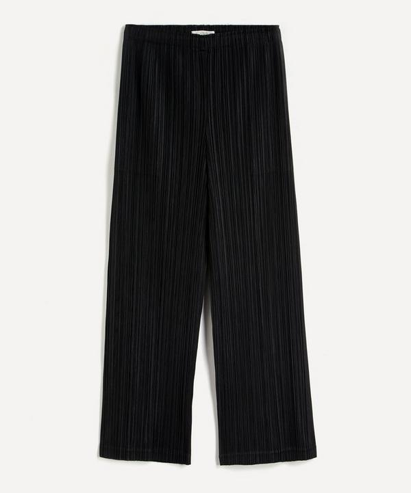 Pleats Please Issey Miyake - June Thicker Bottom Wide-Leg Trousers