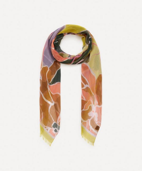 Dries Van Noten - Floral Print Fine Silk-Mix Scarf