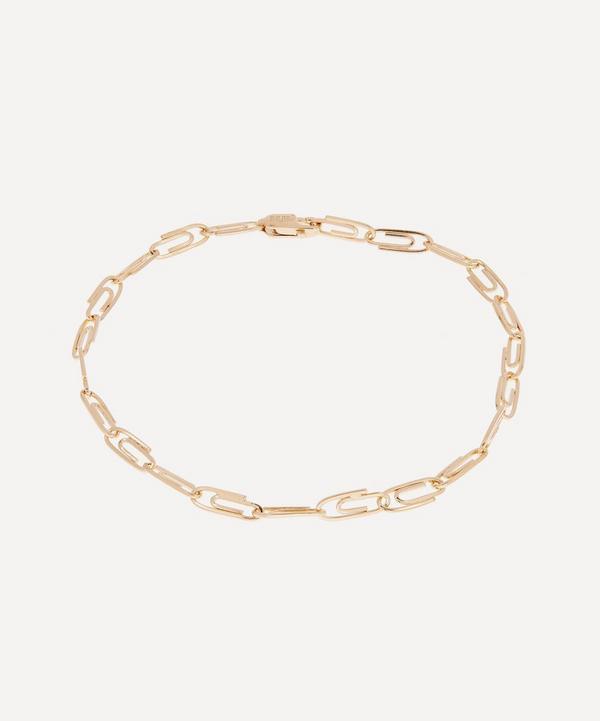 Hillier Bartley - Gold Plated Vermeil Silver Mini Paperclip Chain Bracelet