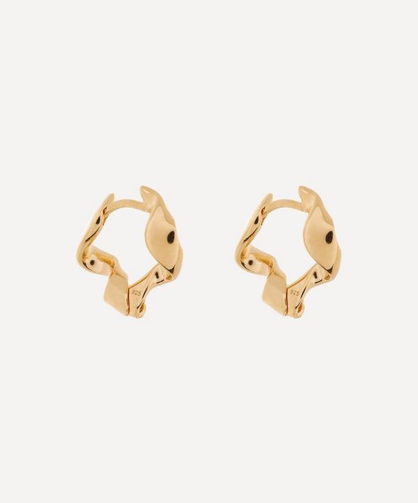 Otiumberg - Gold Plated Vermeil Silver Small Ribbon Hoop Earrings