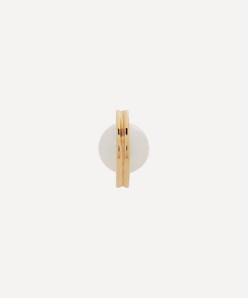 Hirotaka - 10ct Gold Beluga Small Pearl Stud Earring