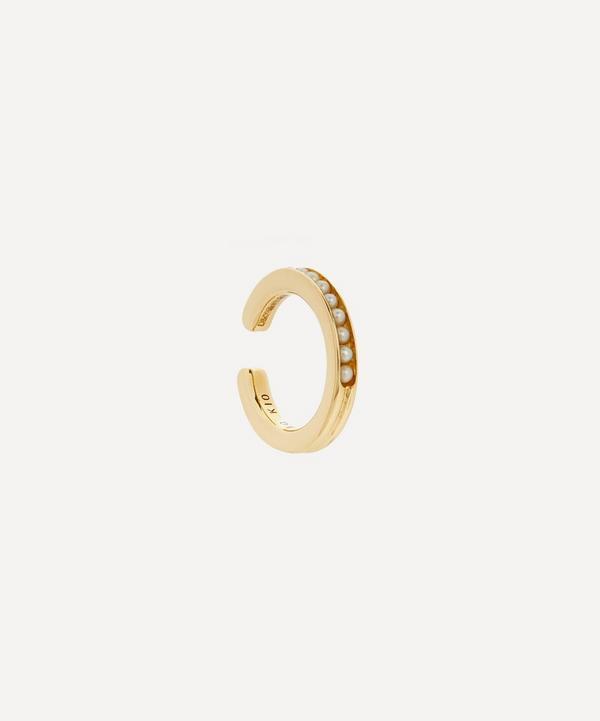 Hirotaka - 10ct Gold Caviar Small Pearl Ear Cuff