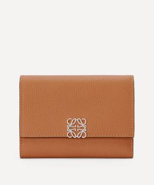 Anagram Small Vertical Leather Wallet
