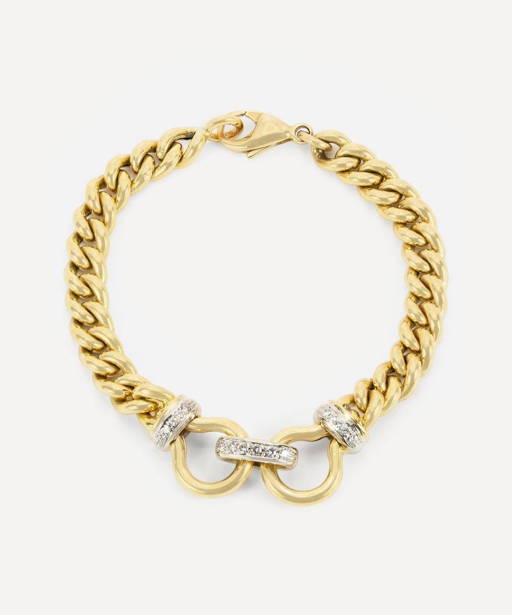 Kojis - 18ct Gold Diamond Chain Bracelet