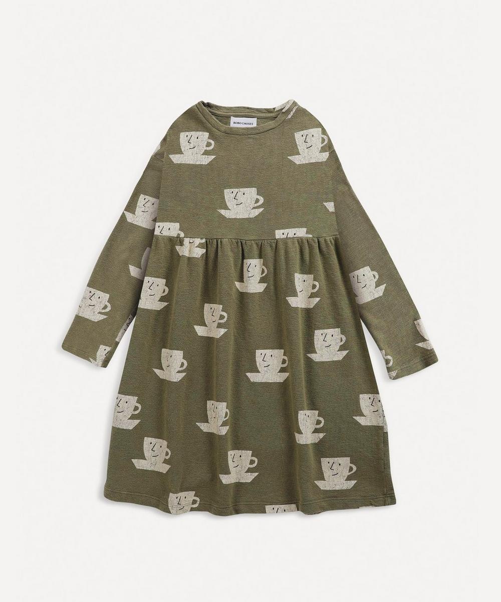 Bobo Choses - Teacup All-Over Print Midi Dress 2-8 Years