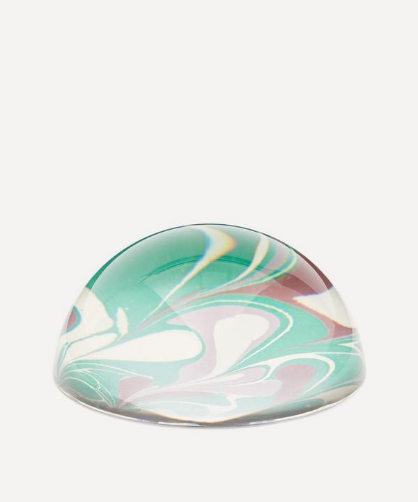 Inq - Emerald Leaf Marbled Paperweight Large