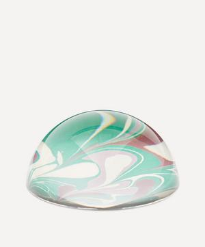 Emerald Leaf Marbled Paperweight Large