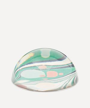 Green Zebra Marbled Paperweight Large