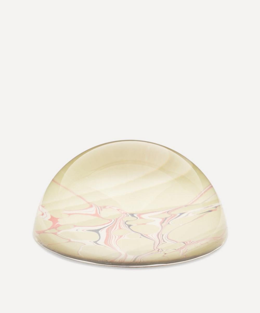 Inq - Lime Wave Marbled Paperweight Small